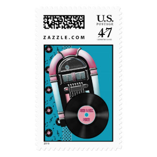 Rock and Roll Party Custom Postage