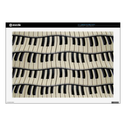 Rock And Roll Piano Keys Laptop Decals