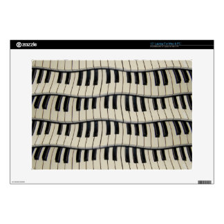 """Rock And Roll Piano Keys Decal For 15"""" Laptop"""