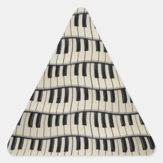 Rock And Roll Piano Keys Triangle Sticker