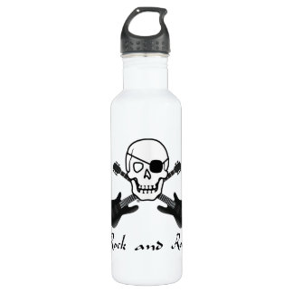 Rock and Roll Pirate Water Bottle