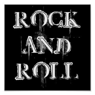 ROCK, AND, ROLL POSTER