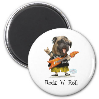 Rock and Roll Pug Magnets