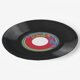 Rock and Roll Record Paper Plate