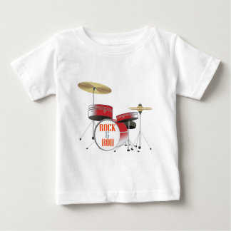 rock and roll red drums tee shirt