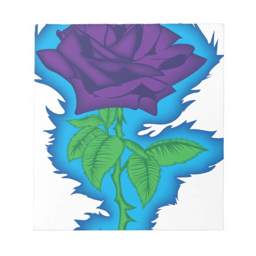 rock and roll rose memo notepads
