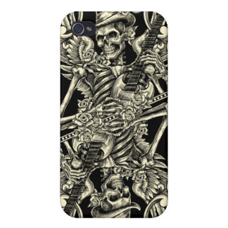 Rock and roll skeleton Iphone 4 case