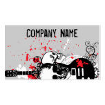 Rock and Roll Skull Business cards