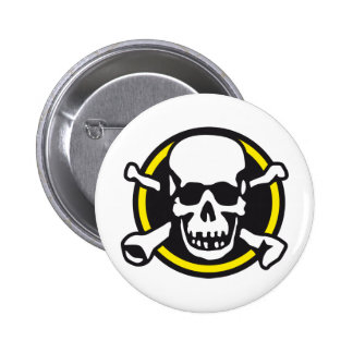 rock and roll skull pin
