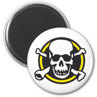 rock and roll skull magnet