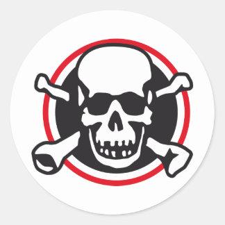 rock and roll skull sticker