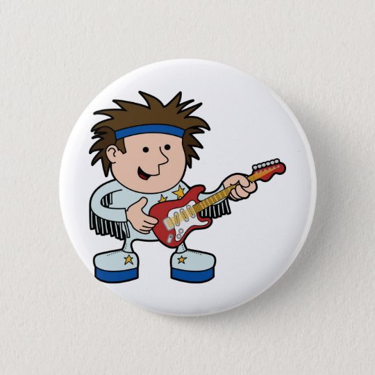 rock and roll star button