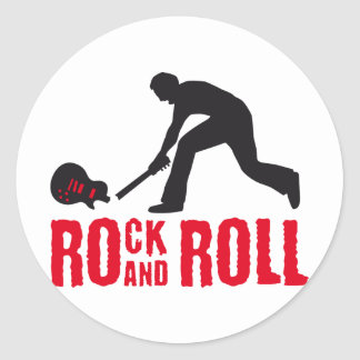 rock and roll round stickers