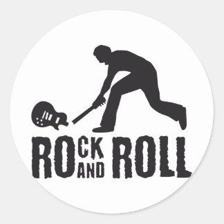 rock and roll round sticker