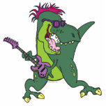 rock and roll t-rex cartoon acrylic cut outs