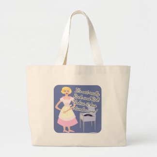 Rock and Roll Tambourine Fifties Housewife Large Tote Bag