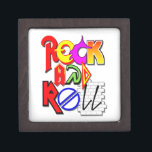 """Rock and Roll Themed Keepsake Box<br><div class=""""desc"""">Perfect for Storing Guitar Picks,  Concert Ticket Stubs,  and other Rockin&#39; Memorabilia</div>"""