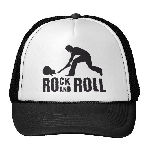 rock and roll trucker hat