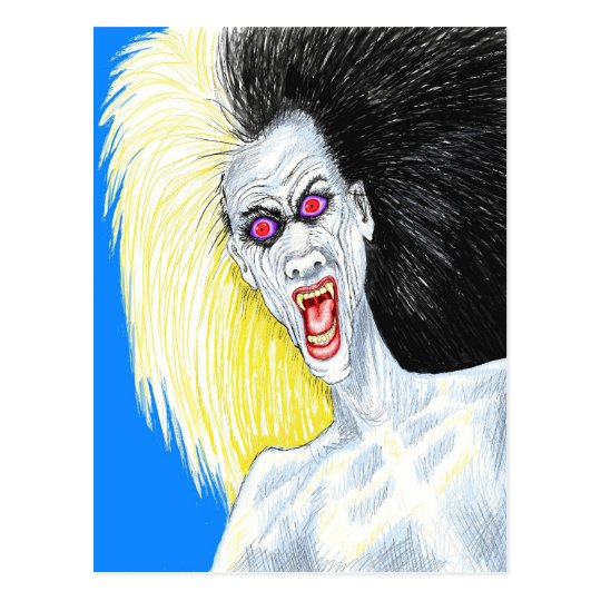 Rock and Roll Vampire Postcard