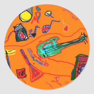 Rock and Roll Wasteland Classic Round Sticker