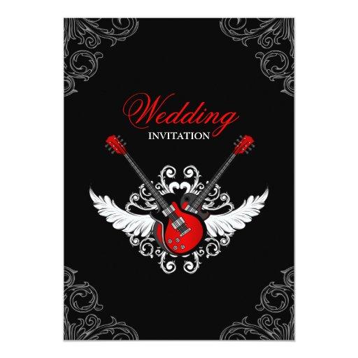 Rock and Roll Wedding invitation