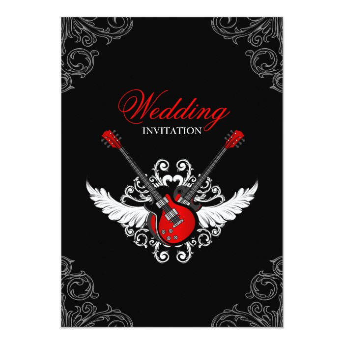Rock and Roll Wedding Invitation