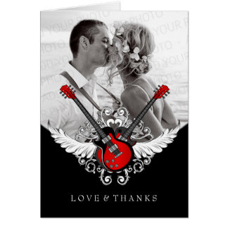 Rock and Roll Wedding Thank You Card