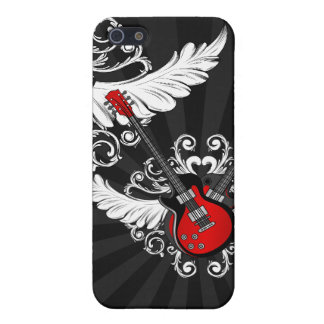 Rock and Roll Winged Guitars iPhone case