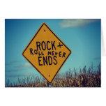 Rock-and-roll y feliz cumpleaños tarjeta de felicitación
