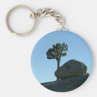 Rock and tree keychain