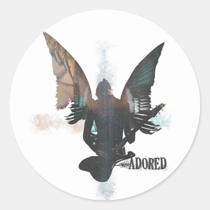 Rock Angel Classic Round Sticker