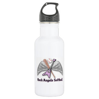 rock angels softball stainless steel water bottle