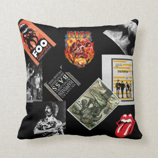 Rock Anthology Throw Pillow