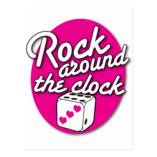ROCK around the Clock Postcard