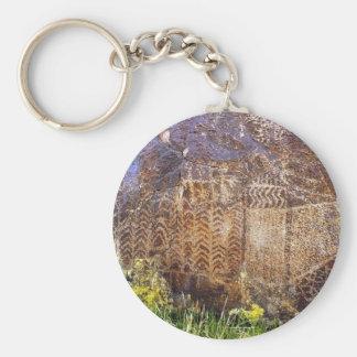 Rock Art Archaic Template Keychain