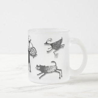 Rock Art Collage 10 Oz Frosted Glass Coffee Mug