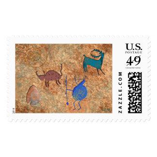 Rock Art Postage Stamp