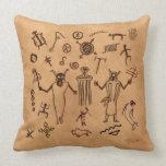 Rock Art Tribal Meditation Pillow