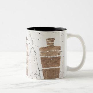 Rock art, Utah Two-Tone Coffee Mug