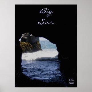 Rock at Big Sur by Katiamaria Photos & Design TM Poster