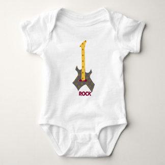 Rock Baby Rock  Calico Guitar Infant Creeper