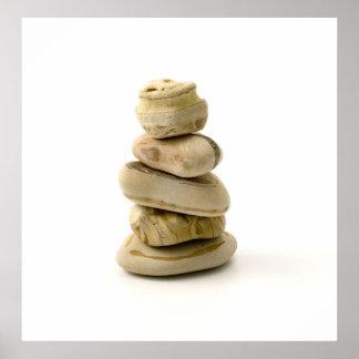 Rock Balancing Zen Art Poster