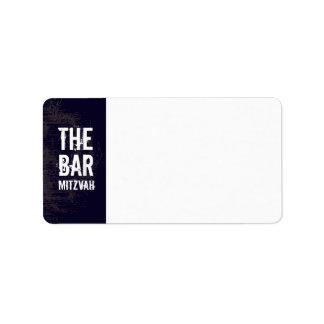 Rock Band Bar Mitzvah Address Label