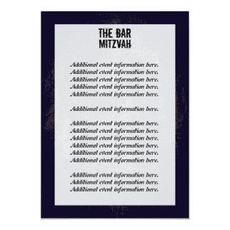 """Rock Band Bar Mitzvah Info Card 5"""" X 7"""" Invitation Card"""