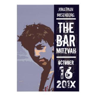 Rock Band Bar Mitzvah Invitation