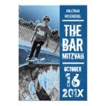 Rock Band Bar Mitzvah Invitation in Blue