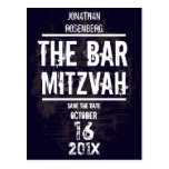 Rock Band Bar Mitzvah Save the Date All Type Post Card