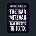 "Rock Band Bar Mitzvah Save the Date Magnet, Black Magnet<br><div class=""desc"">Every great Bar Mitzvah begins with a little buzz. Generate some of your own with this save the date magnet – perfect for the fridge – and make sure your friends and family will be in the front row. Pair it with our matching stamps, invitations, posters and more. (Plus, you...</div>"