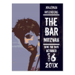 Rock Band Bar Mitzvah Save the Date Post Card