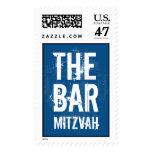 Rock Band Bar Mitzvah Stamp in Blue
